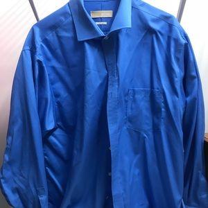Men's Blue Michael Kors Dress Shirt